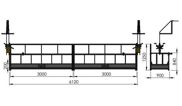 Andaime Balancim Manual 6 Metros