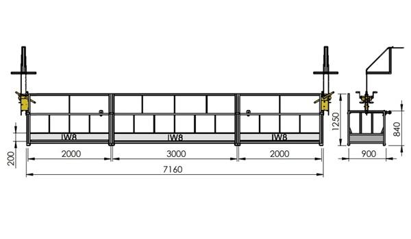 Andaime Balancim Manual 7 Metros