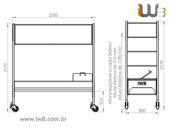Andaime Tubular Industrial 2 Metros Galvanizado